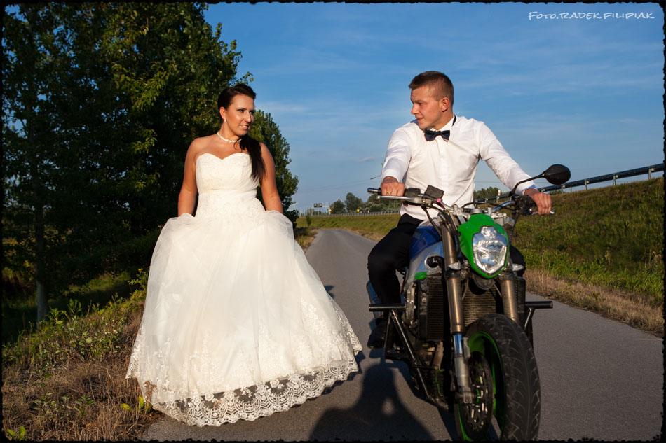 sesja ślubna na motorze Lublin