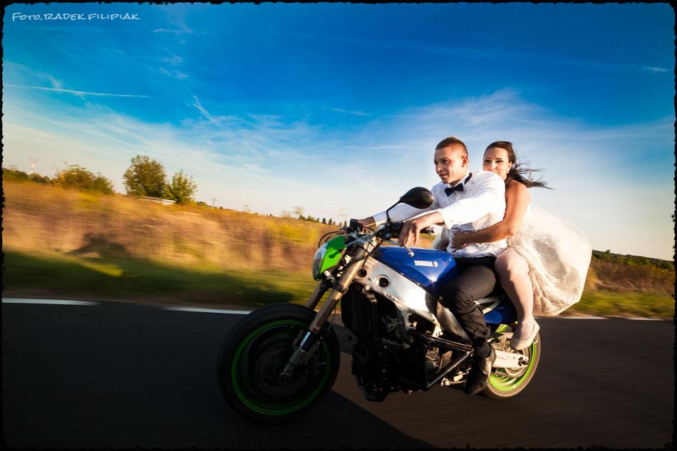sesja ślubna na motorze Puławy