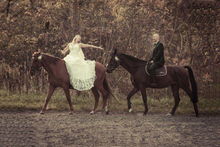 Sesja ślubna z końmi – Magda & Mateusz